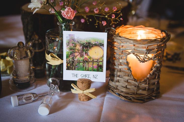 Polaroid Table Names Wick Bottom Barn Wiltshire Wedding Heline Bekker Photography