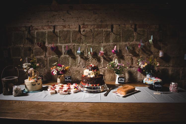 Cake Table Wick Bottom Barn Wiltshire Wedding Heline Bekker Photography