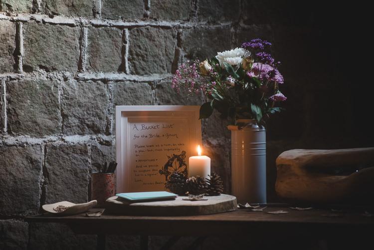 Bucket List Guest Book Wick Bottom Barn Wiltshire Wedding Heline Bekker Photography