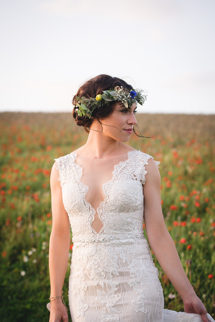 Sottero and Midgley Lace Dress Gown Bride Bridal Train Straps Wick Bottom Barn Wiltshire Wedding Heline Bekker Photography