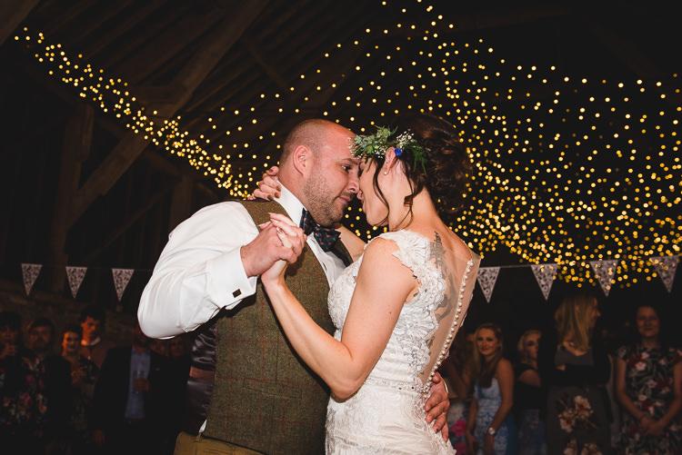 First Dance Wick Bottom Barn Wiltshire Wedding Heline Bekker Photography