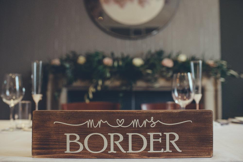 Mr & Mrs Wooden Sign Top Table Sweetheart 60 Hope Street Wedding Lisa Howard Photography
