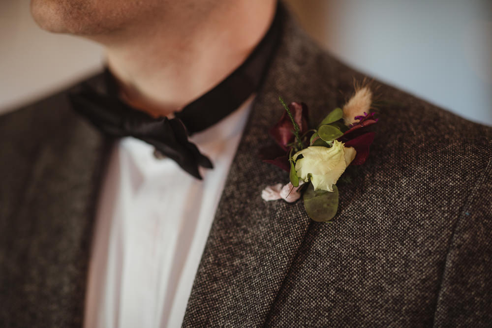 Buttonhole Groom Barn Wedding Ideas Thyme Lane Photography