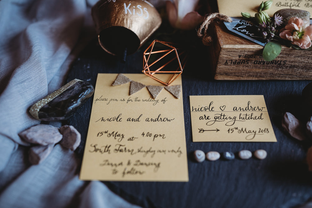 Calligraphy Stationery Invitation Invites Bunting Barn Wedding Ideas Thyme Lane Photography