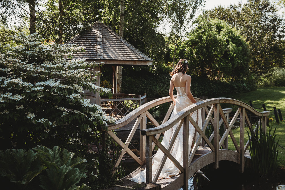 Dress Gown Bride Bridal Lace Strapless Train Barn Wedding Ideas Thyme Lane Photography