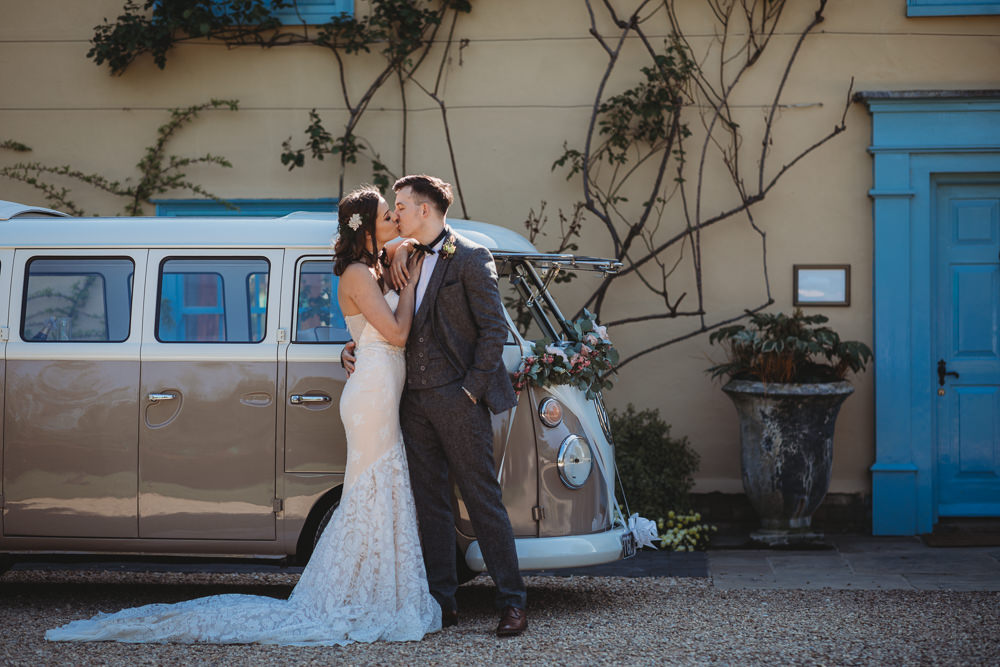 VW Camper Van Transport Barn Wedding Ideas Thyme Lane Photography