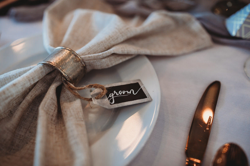 Linen Napkin Ring Place Name Chalk Calligraphy Barn Wedding Ideas Thyme Lane Photography