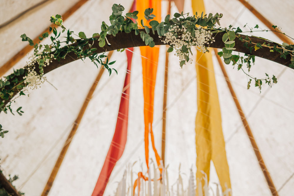 Greenery Hanging Hoop Ceridwen Centre Wedding Love Seen Photography
