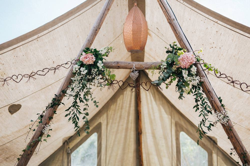 Hanging Suspended Flowers Tipi Pink Peony Greenery Ceridwen Centre Wedding Love Seen Photography