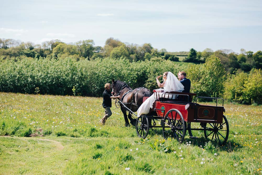 Horse Cart Transport Ceridwen Centre Wedding Love Seen Photography