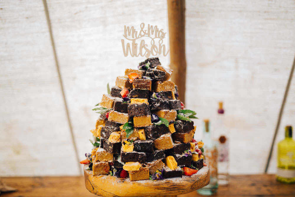 Brownie Tower Cake Ceridwen Centre Wedding Love Seen Photography