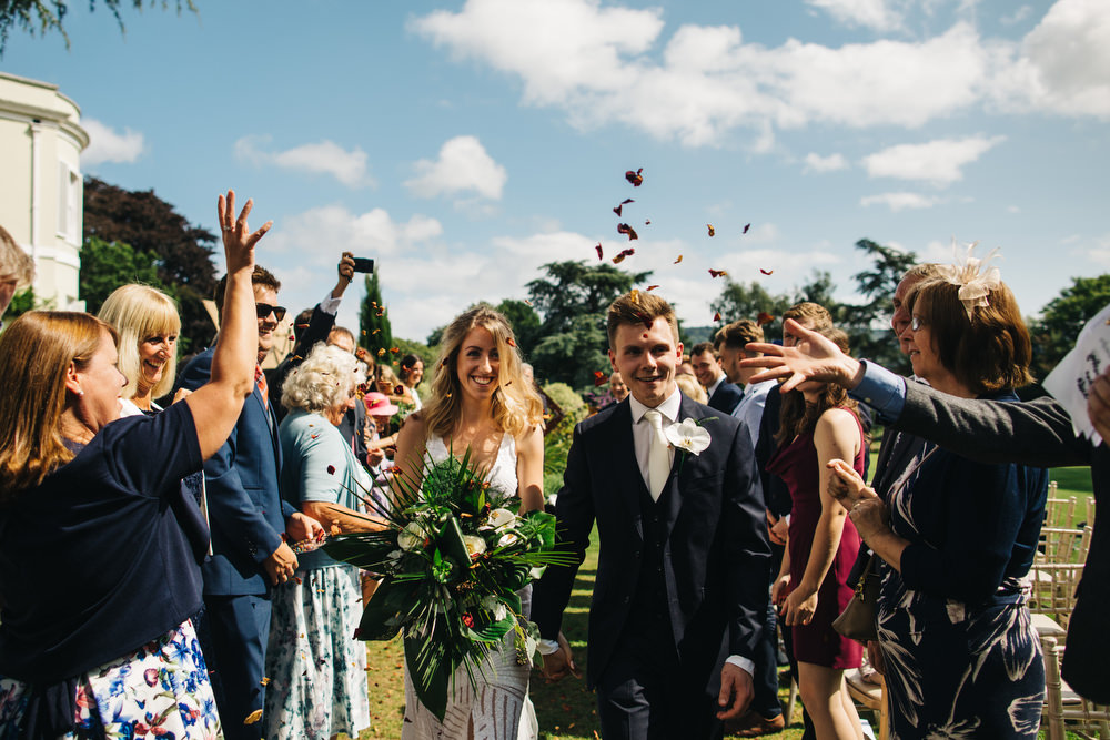 Confetti Throw Deer Park Country House Hotel Wedding Richard Skins Photography
