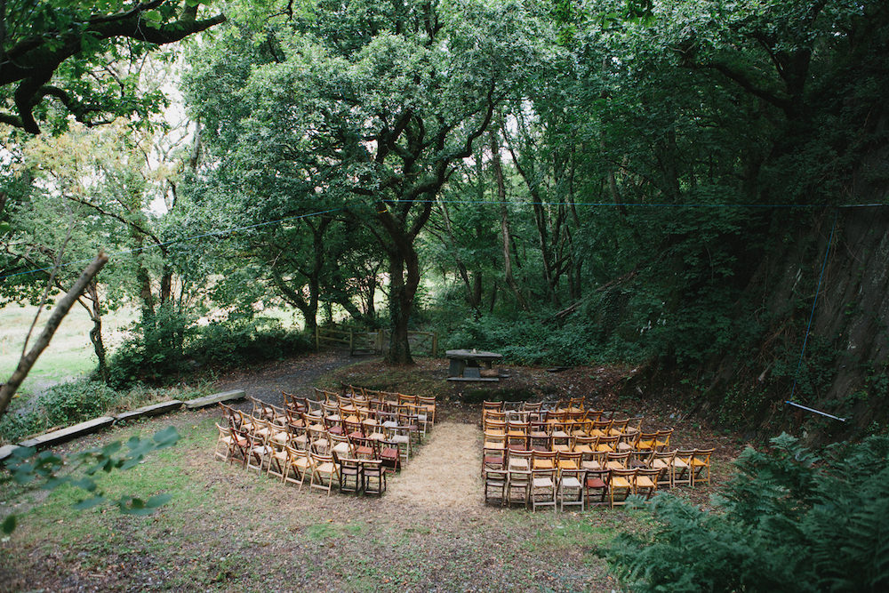 Fforest Festival Outdoor Wedding Venue peach and jo photography