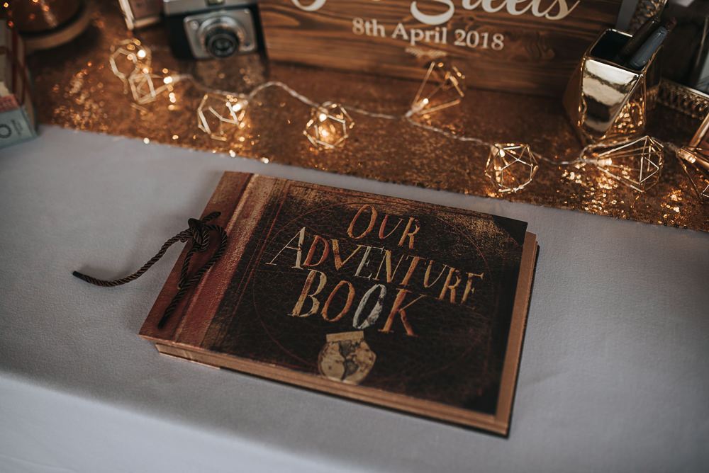 Up Adventure Book Guest Folly Farmhouse Mackworth Wedding Pear&Bear Photography