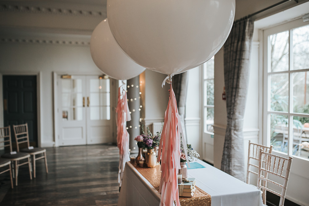 Giant Tassel Balloons Folly Farmhouse Mackworth Wedding Pear&Bear Photography