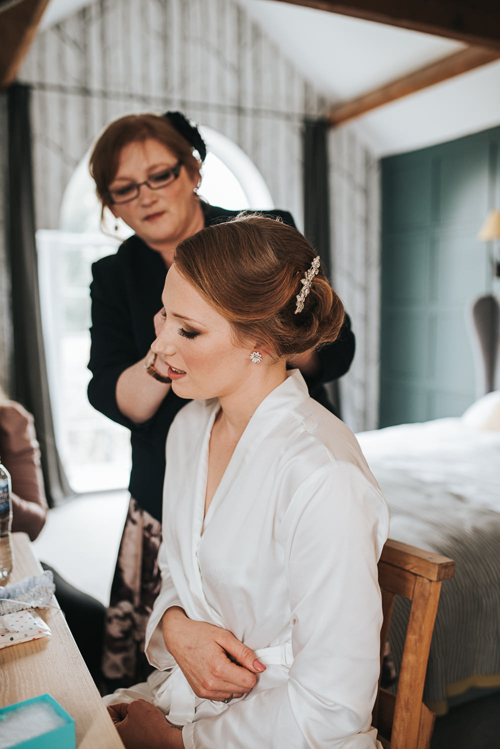 Hair Make Up Bride Bridal Up Do Style Folly Farmhouse Mackworth Wedding Pear&Bear Photography