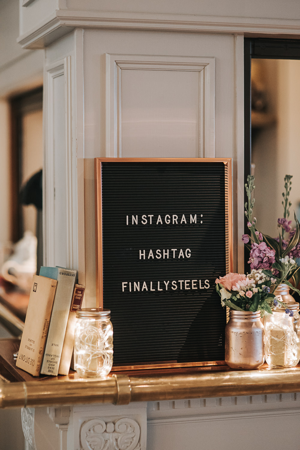 Peg Pin Board Sign Felt Instagram Folly Farmhouse Mackworth Wedding Pear&Bear Photography
