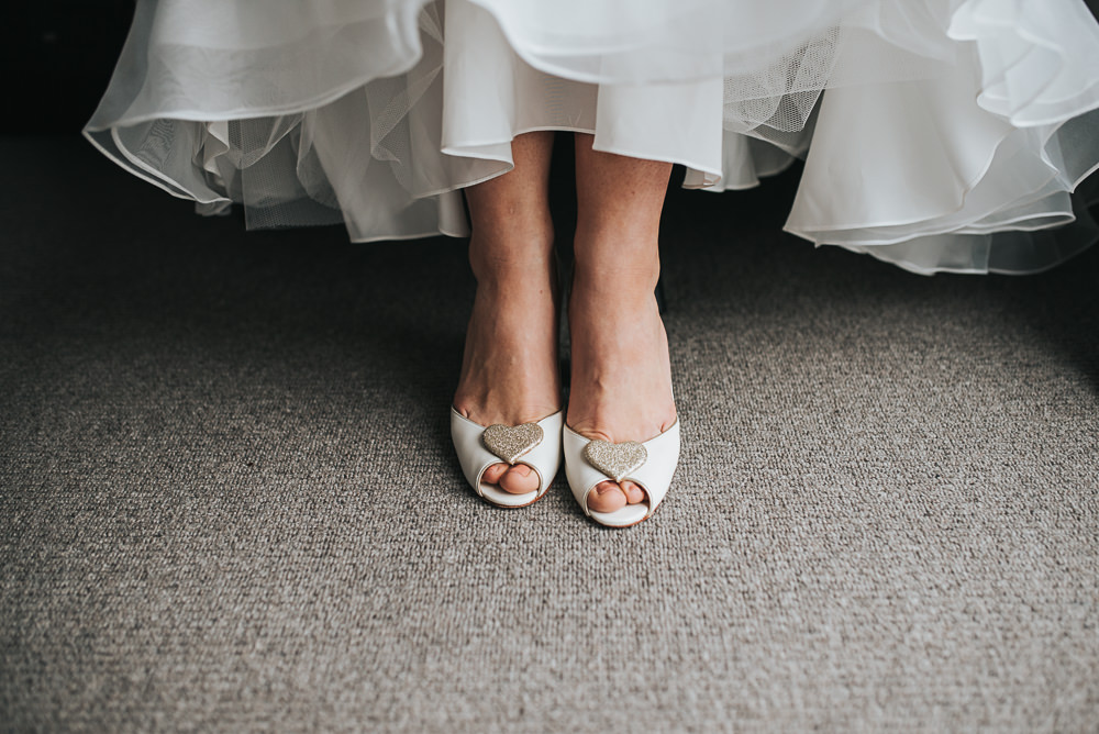 Charlotte Mills Shoes Peep Toe Hearts Folly Farmhouse Mackworth Wedding Pear&Bear Photography