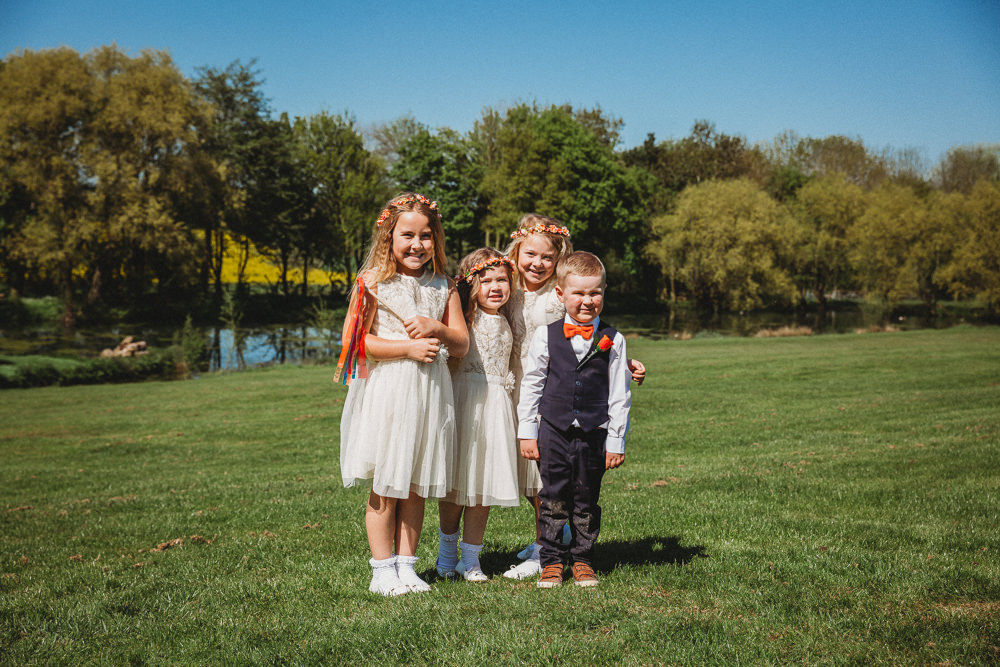 Flower Girls Page Boys Furtho Manor Farm Wedding Ben Cotterill Photography