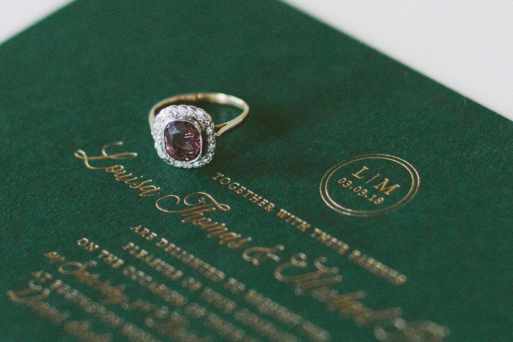 Classic Embossed Stationery Invitation Glamorous Vintage Eggington House Wedding Ideas David Jenkins Photography