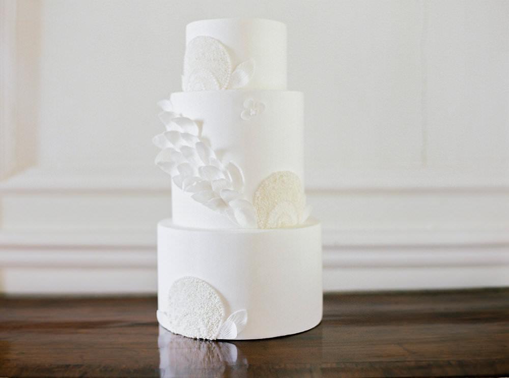 White Lace Effect Cake Glamorous Vintage Eggington House Wedding Ideas David Jenkins Photography