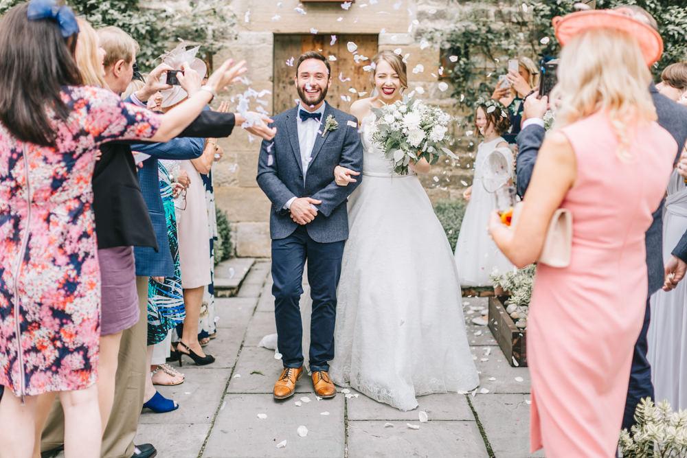 Confetti Throw Healey Barn Wedding Amy Lou Photography