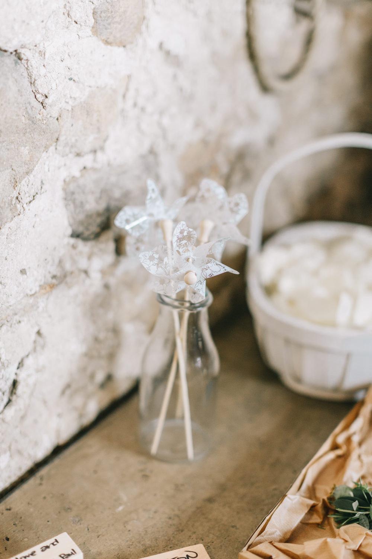 Pinwheels Bottles Healey Barn Wedding Amy Lou Photography