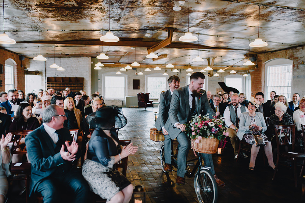 Bike Bicycle Transport Tandem Industrial Winter Wedding Reality Photography