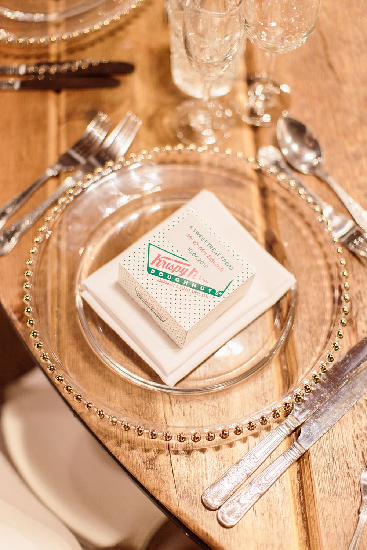 Krispy Kreme Donut Favours Marsala Gold Wedding Carn Patrick Photography
