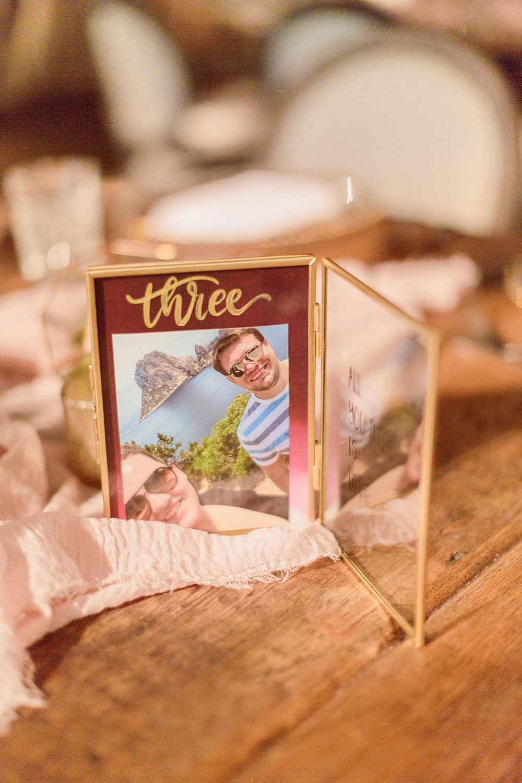 Fram Table Name Photo Marsala Gold Wedding Carn Patrick Photography
