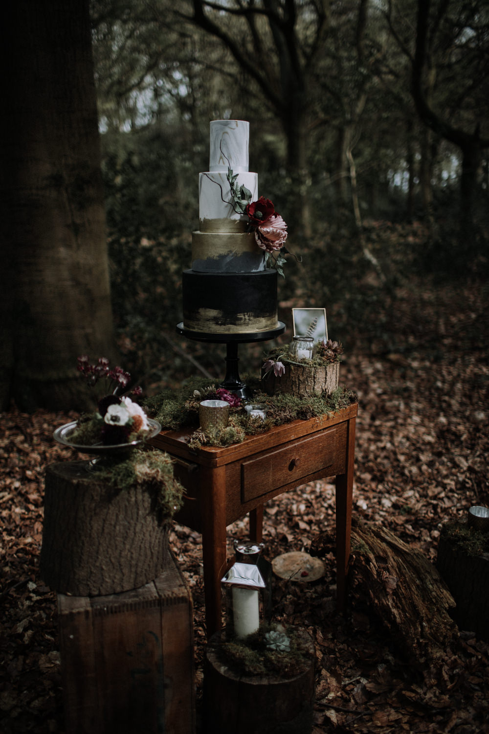 Modern Gothic Wedding Ideas In The Woods Whimsical