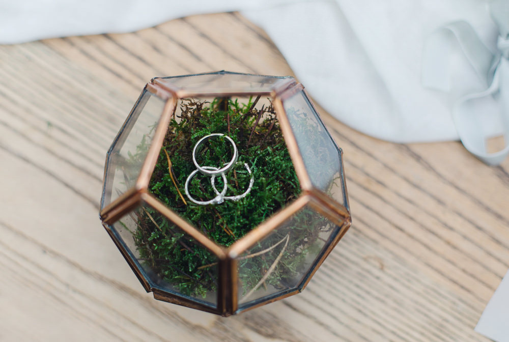 Terrarium Rings Moss Nordic Woodland Elopement Wedding Ideas Nina Wernicke Photography