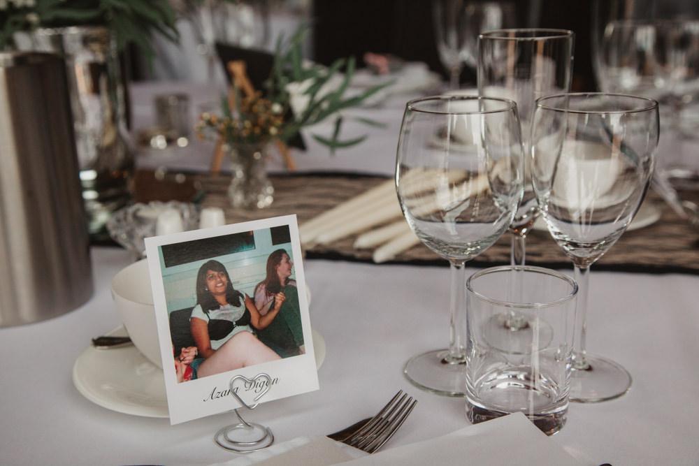 Polaroid Place Name Card Southwood Hall Wedding Emily Tyler Photography