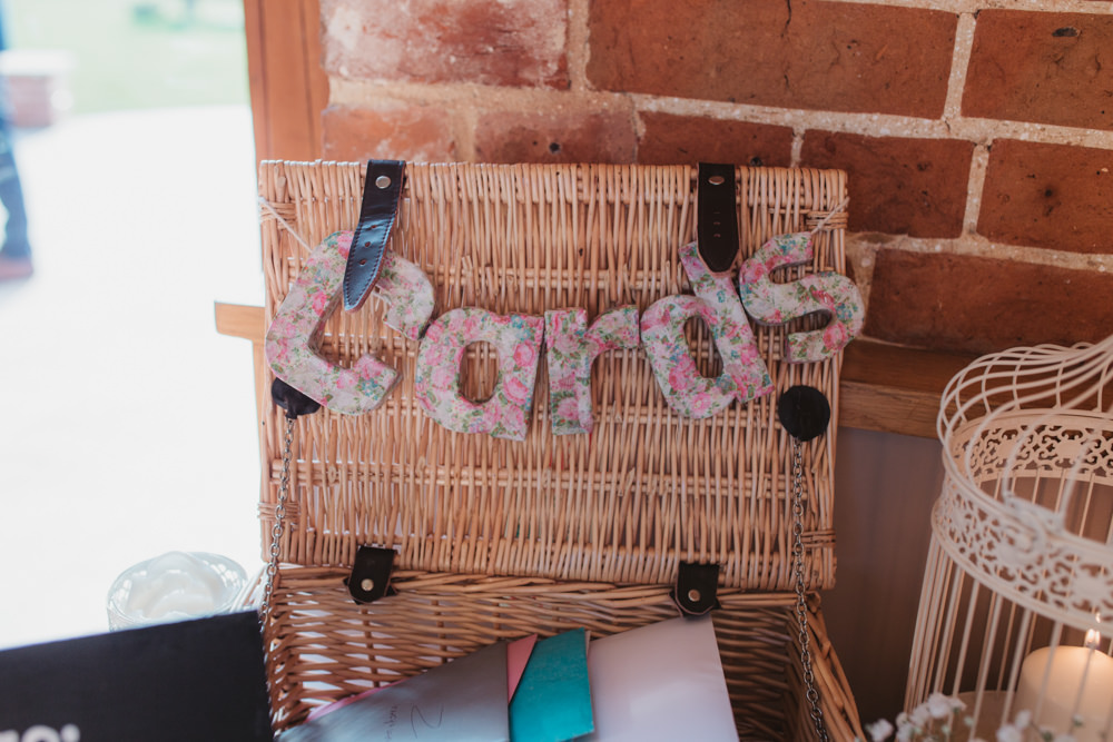 Cards Hamper Floral Decoupage Letters Bird Cage Southwood Hall Wedding Emily Tyler Photography