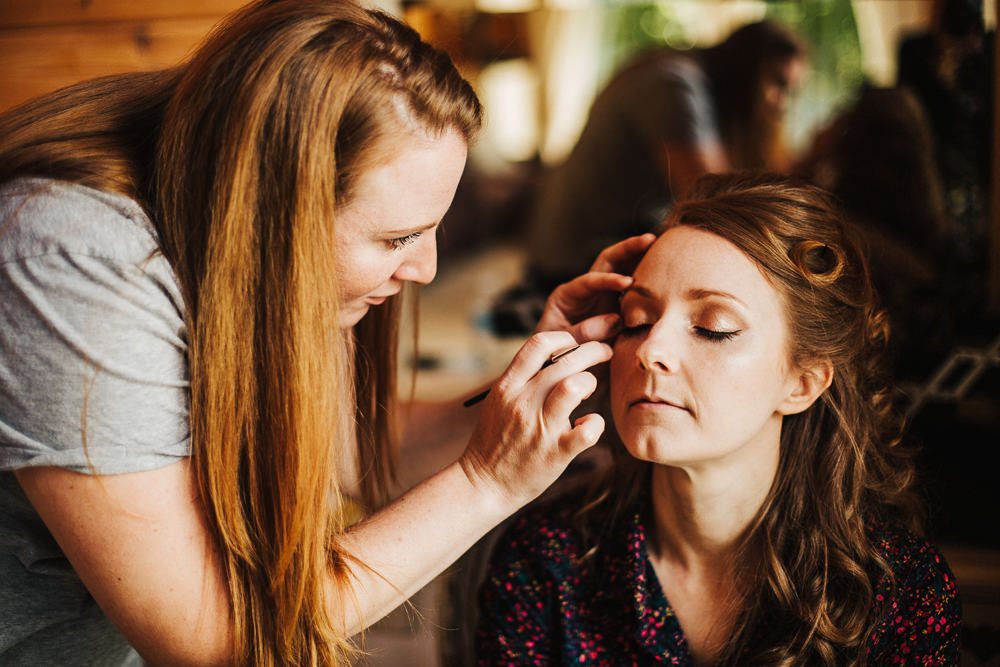 Styal Lodge Multicultural English Bride Makeup Morning Prep | Modern and Colorful Indian Wedding Emilie May Photography