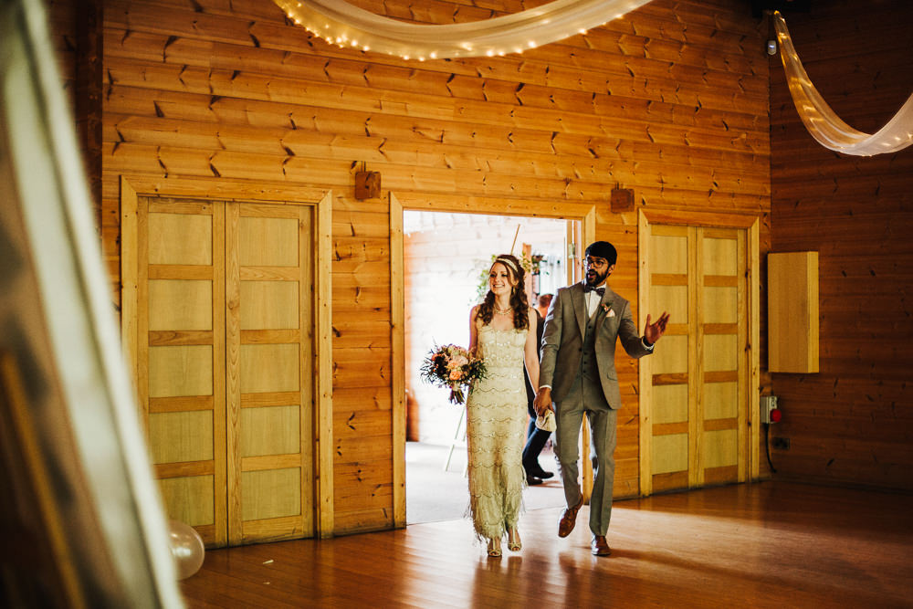 Styal Lodge Multicultural English Bride Groom Entrance Dinner | Modern and Colorful Indian Wedding Emilie May Photography