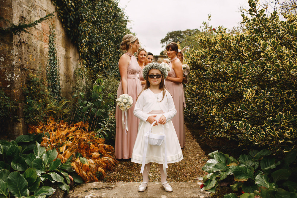 Cotswolds Royal Castle Summer Autumn Traditional Classic Elegant Pink Bridesmaids Cool Flower Girl | Sudeley Castle Wedding ARJ Photography