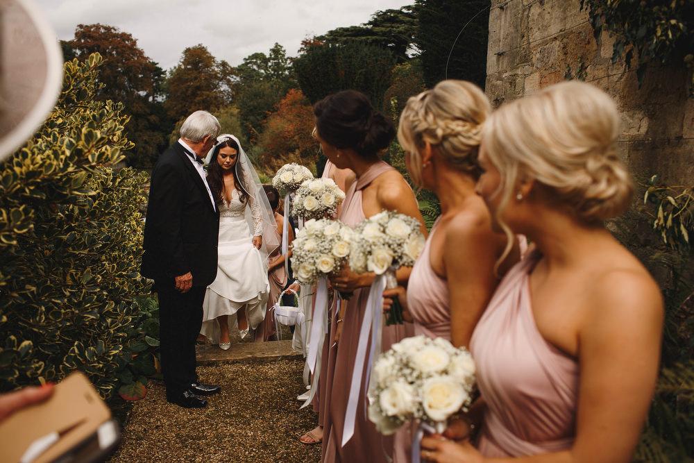 Cotswolds Royal Castle Summer Autumn Traditional Classic Elegant Black Tie White Rose Bride Father White Bouquet | Sudeley Castle Wedding ARJ Photography