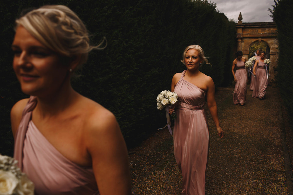 Cotswolds Royal Castle Summer Autumn Traditional Classic Elegant Pink Bridesmaids White Bouquet | Sudeley Castle Wedding ARJ Photography
