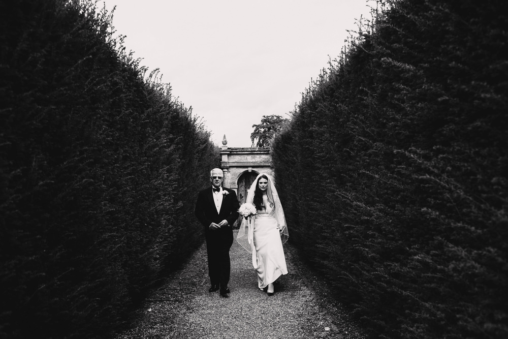 Cotswolds Royal Castle Summer Autumn Traditional Classic Elegant Bride Father White Bouquet | Sudeley Castle Wedding ARJ Photography