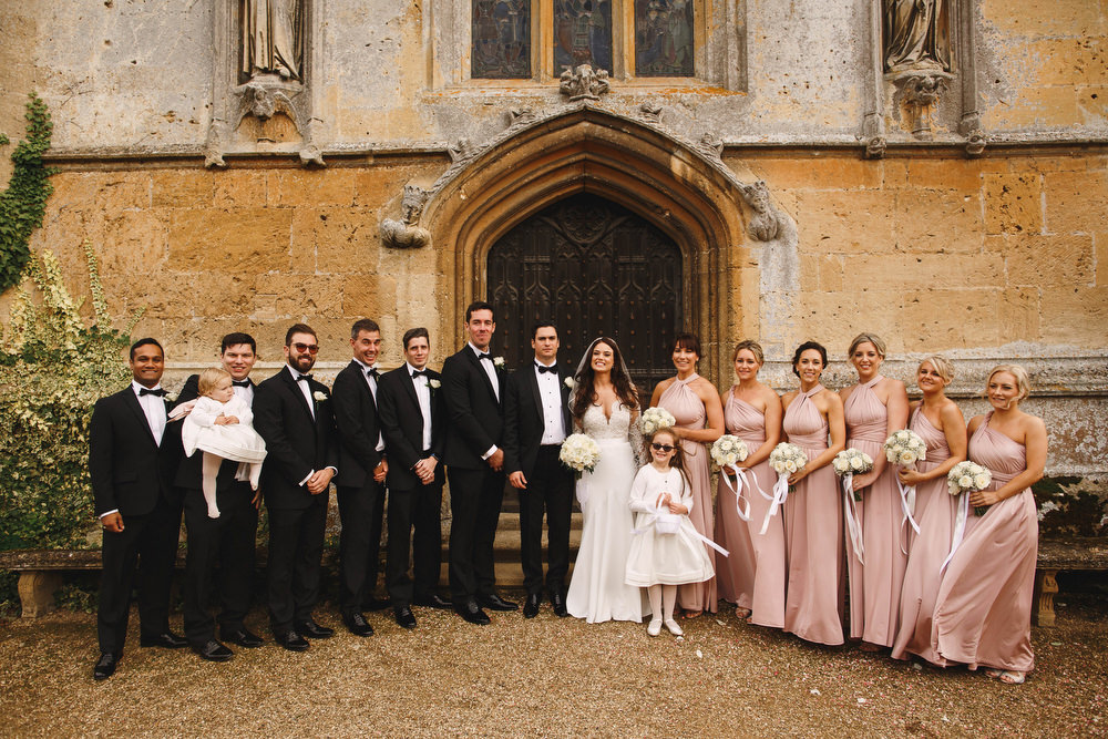 Cotswolds Royal Castle Summer Autumn Traditional Classic Elegant Groom Bride Black Tie Groomsmen Pink Bridesmaids | Sudeley Castle Wedding ARJ Photography
