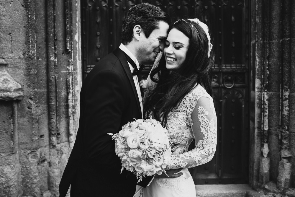 Cotswolds Royal Castle Summer Autumn Traditional Classic Elegant Groom Bride Church Kiss | Sudeley Castle Wedding ARJ Photography