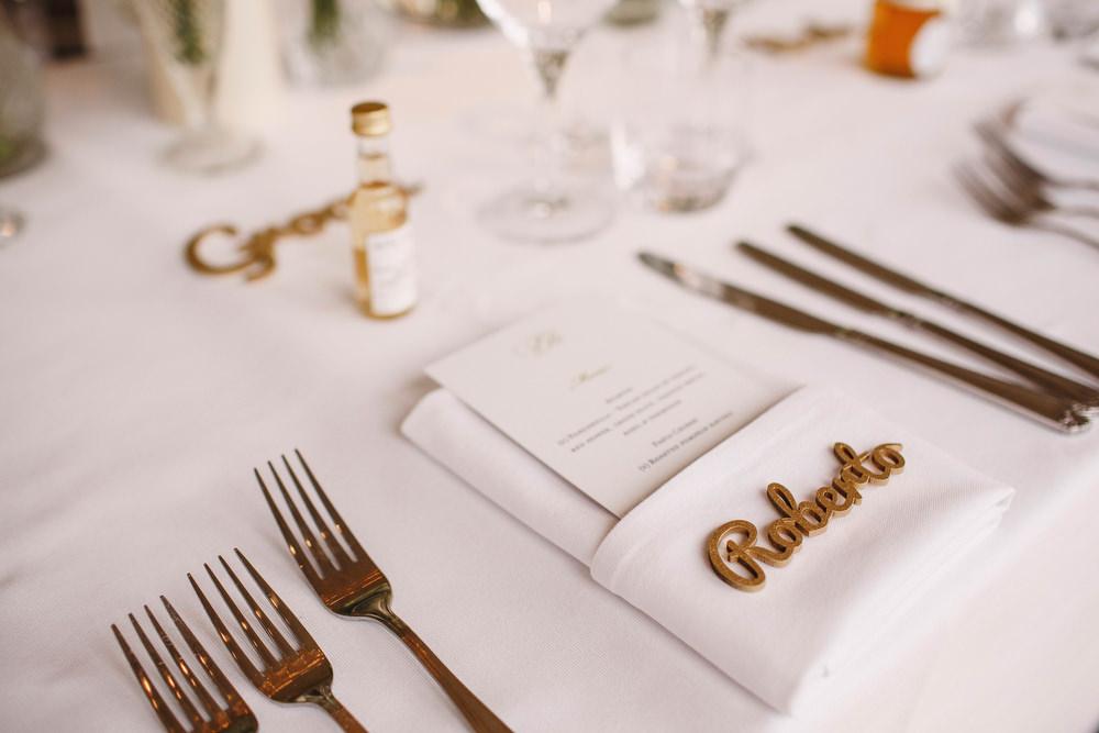 Cotswolds Royal Castle Summer Autumn Traditional Classic Elegant Simple White Decor Laser Cut Place Card | Sudeley Castle Wedding ARJ Photography