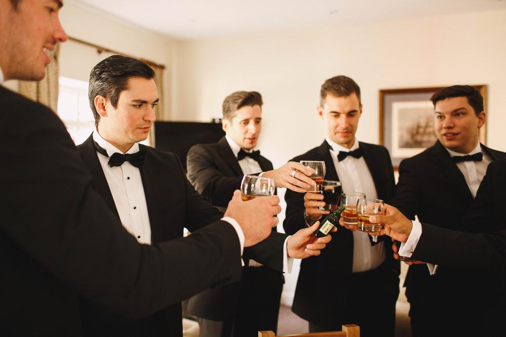 Cotswolds Royal Castle Summer Autumn Stylish Black Tie Groom Groomsmen | Sudeley Castle Wedding ARJ Photography