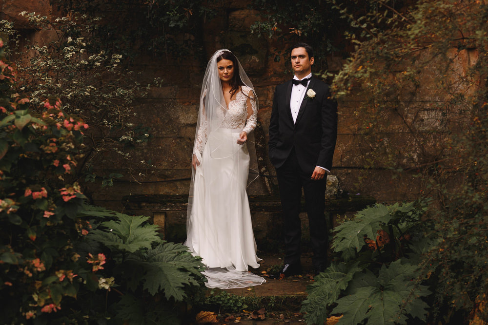 Cotswolds Royal Castle Summer Autumn Elegant Traditional Bride Groom Long Sleeved Suzanne Neville | Sudeley Castle Wedding ARJ Photography