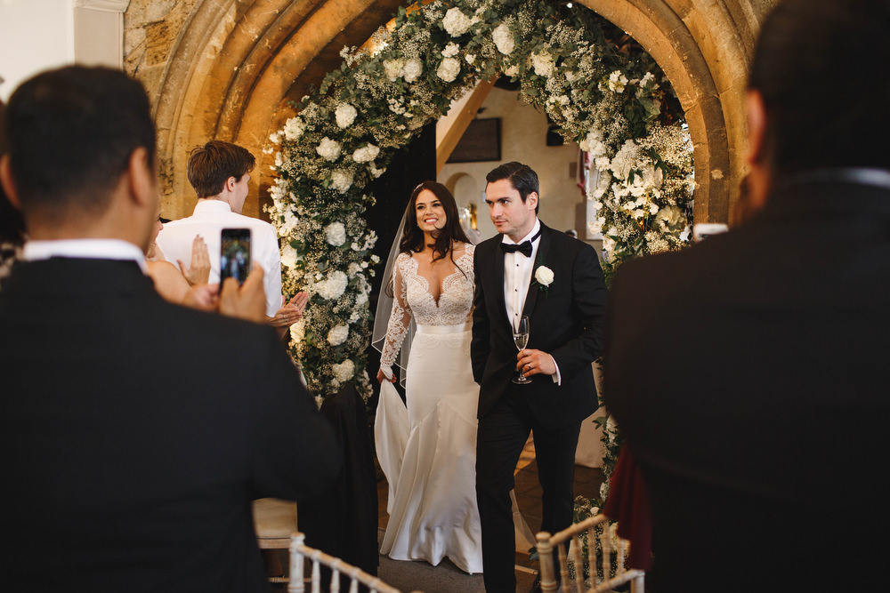 Cotswolds Royal Castle Summer Autumn Traditional Classic Elegant Ivy Bride Groom Dinner Reception Flower Arch | Sudeley Castle Wedding ARJ Photography