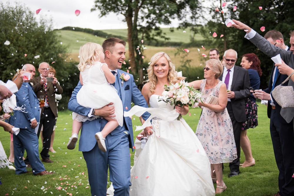 Confetti Throw Tythe Barn Priston Mill Wedding Eleanor Jane Photography