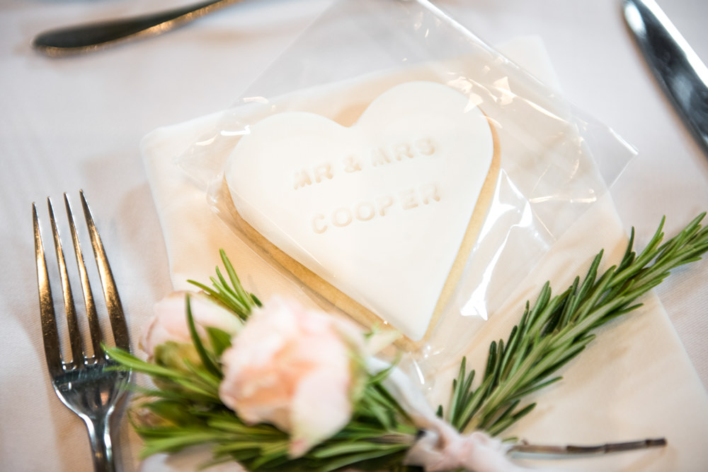 Heart Cookie Favours Tythe Barn Priston Mill Wedding Eleanor Jane Photography