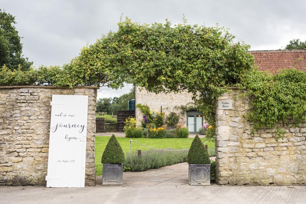 Door Sign Wooden Rustic Tythe Barn Priston Mill Wedding Eleanor Jane Photography