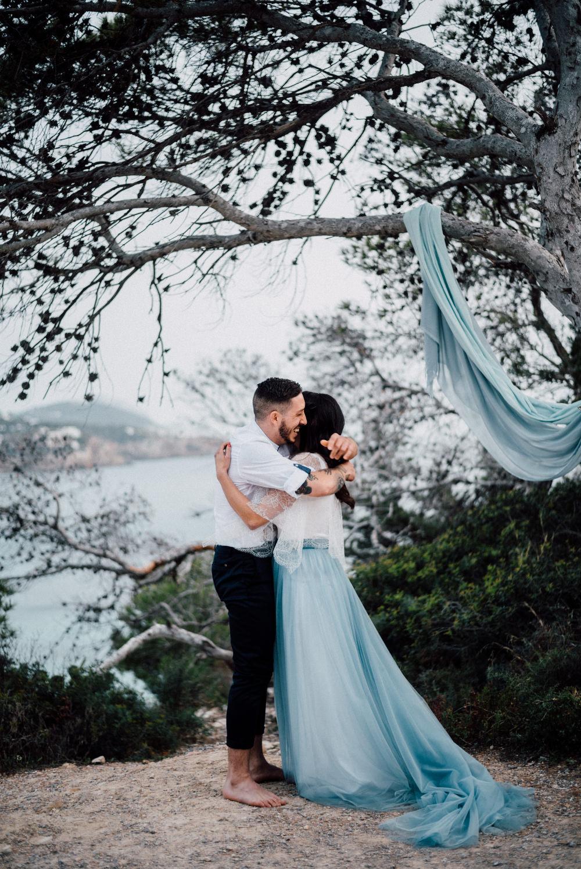 Blue Ibiza Wedding Ideas Proposal Serena Genovese Photography